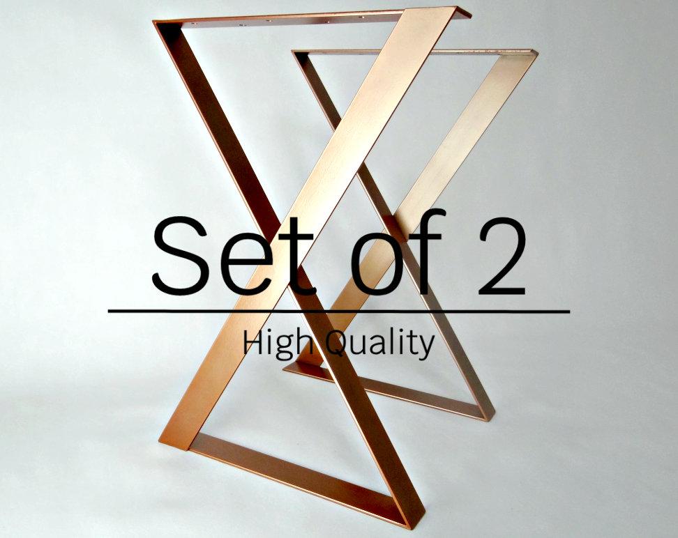 Used, XZ Metal Dining Table Legs set(2), steel table legs, modern desk legs, iron table legs for sale