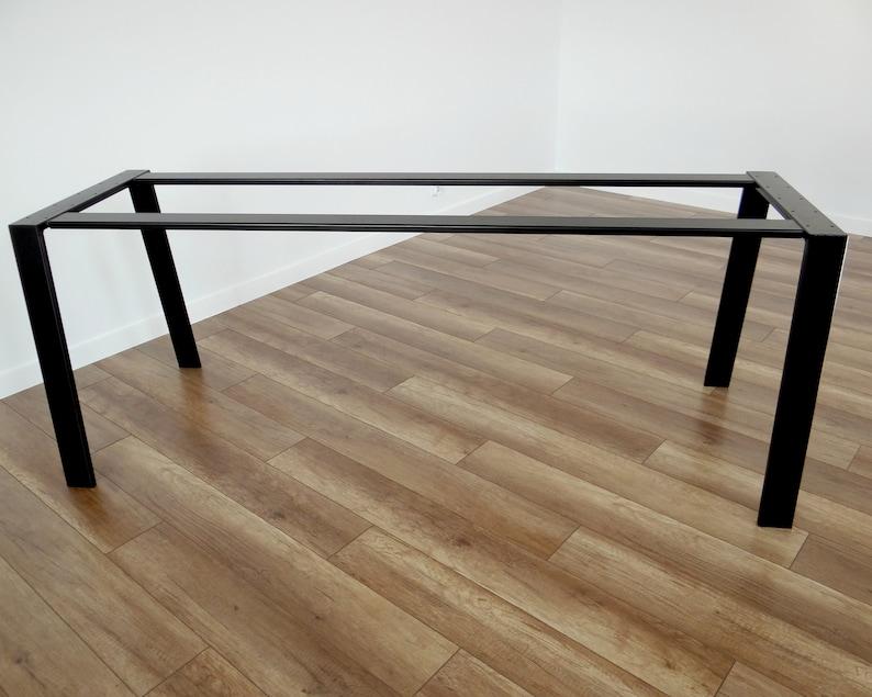 Gambe tavolo da pranzo in metallo per piano di tavolo in marmo e vetro.  Tavolo in acciaio gambe, tavolo trapezoidale, telaio ferro tavolo  cavalletto ...