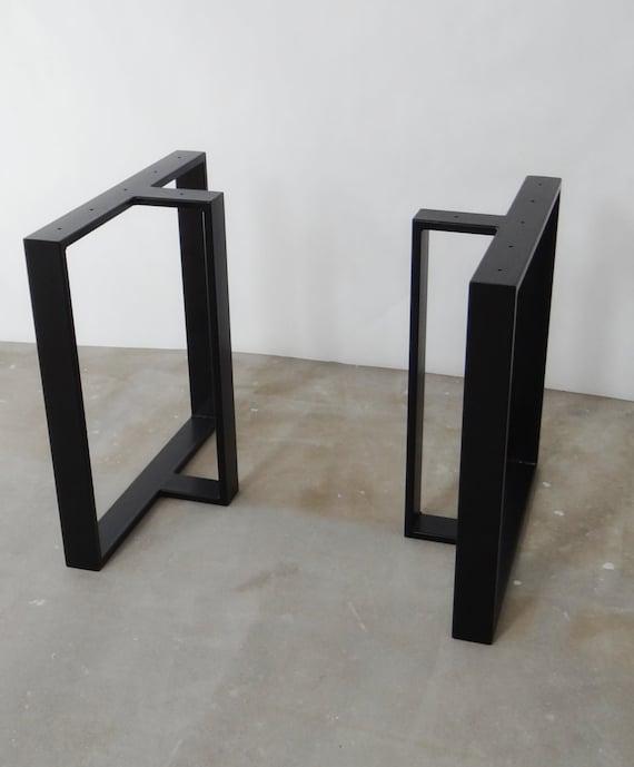 metall esstisch tischbeine t form edelstahl tischbeine etsy. Black Bedroom Furniture Sets. Home Design Ideas