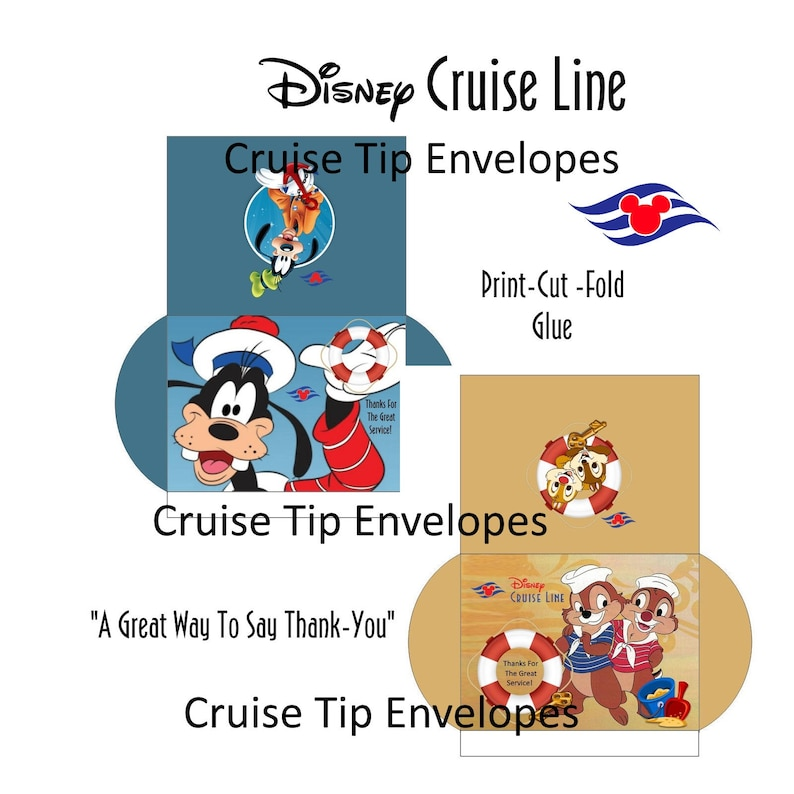 graphic relating to Disney Printable Envelopes referred to as PRINTABLE Disney Cruise Line Idea Envelopes (PKG. of 14)