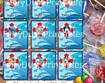PRINRABLE Disney Cruise Line Lollipop Cards (F.E. Favor/Gift)