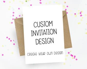 Custom Invitation Etsy