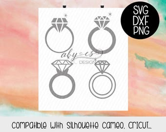 Rings SVG, Diamond Ring SVG, diamond ring wedding, Dxf, Png, Silhouette, Cricut, Cut Files, Ring clipart, digital file,