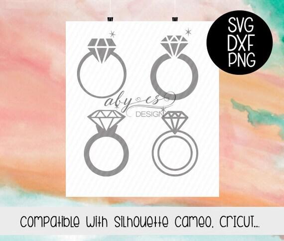 Ringe Svg Diamant Ring Svg Diamant Ring Hochzeit Dxf Png Etsy