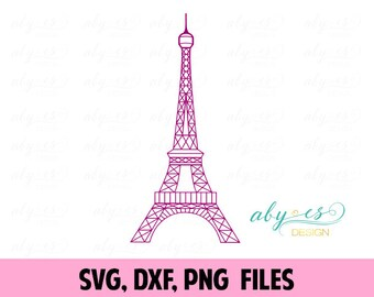 Eiffel Tower SVG, Paris, Vector, France, DXF, PNG, Silhouette, Cameo, Cricut, Cut Files