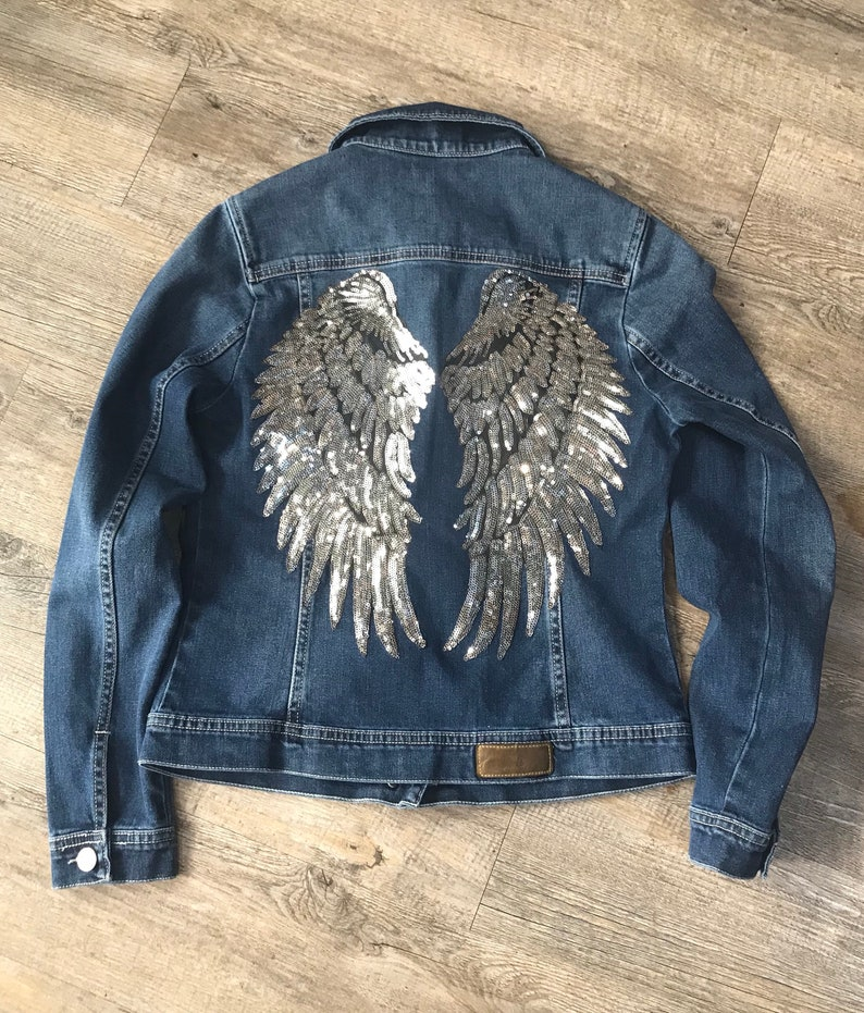 Cazadora vaquera alas de angel