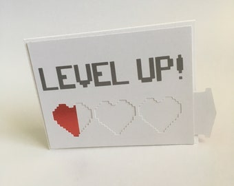 Level Up Birthday Card Boys Gamer Unique Slider Greeting For Gamers