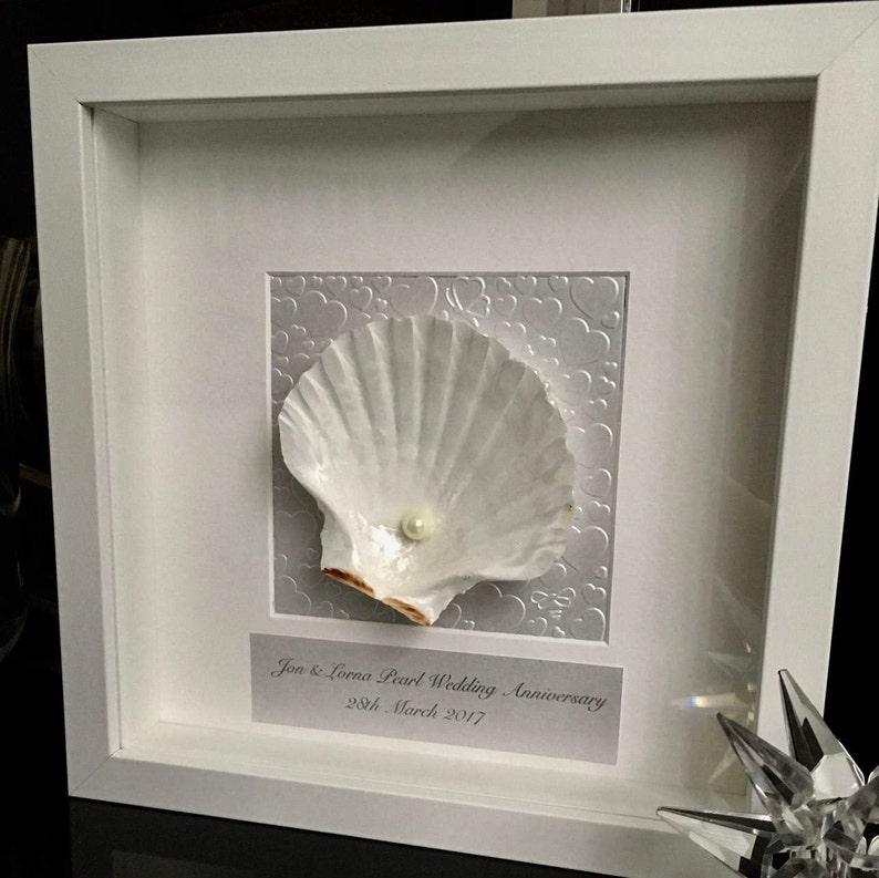 30th Wedding Anniversary Gift.30th Wedding Anniversary Gift Shell Art Anniversary Gift For Parents Hand Made