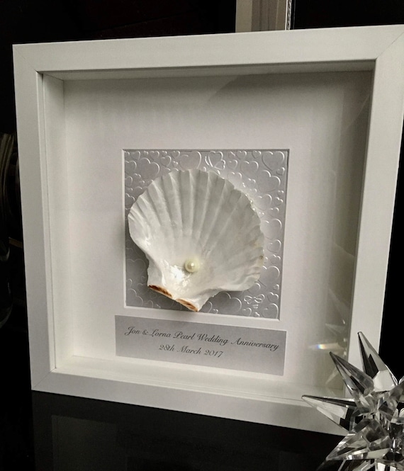 30th Wedding Anniversary Gift Shell Art Anniversary Gift For Etsy