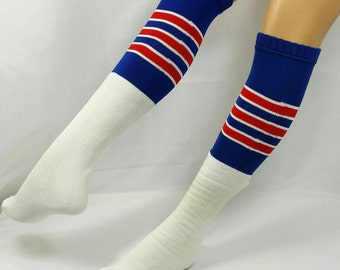 f329312e091 Vintage Twin City s Over The Calf Athletic Striped Tube Sock NOS Super Long  Comfy One Size Fits All