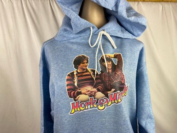 Vintage Hoodie Mork & Mindy Adult Medium Heat Tra… - image 4
