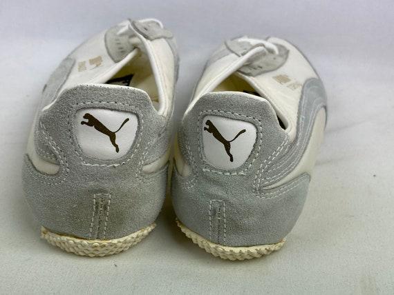 Vintage 70s Puma Tornado Track Shoes White Spikes… - image 5