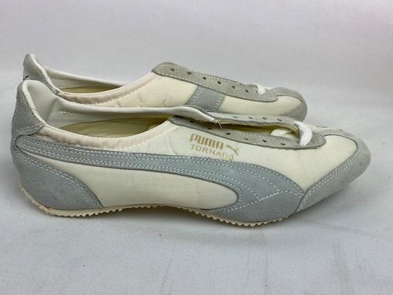 Vintage 70s Puma Tornado Track Shoes White Spikes… - image 2