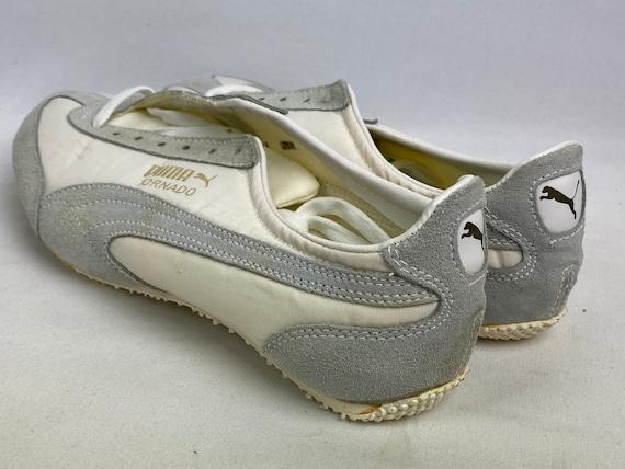 Vintage 70s Puma Tornado Track Shoes White Spikes… - image 7