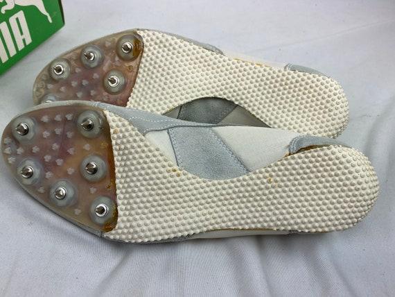 Vintage 70s Puma Tornado Track Shoes White Spikes… - image 10