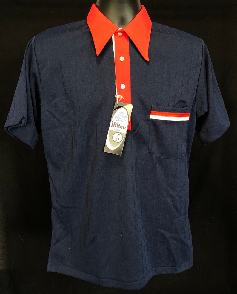 84744027625b Vintage Hilton 1960s Bowling Polo Shirt Deadstock Meduim NWT   Etsy