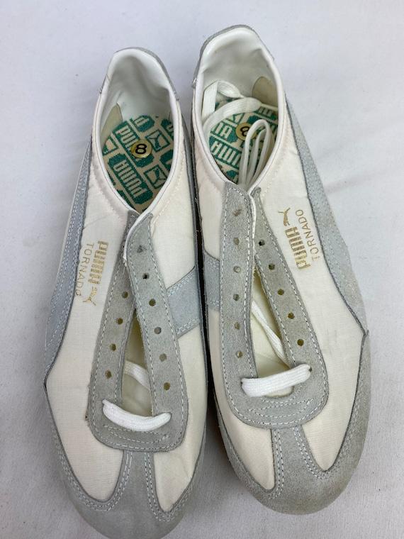 Vintage 70s Puma Tornado Track Shoes White Spikes… - image 4