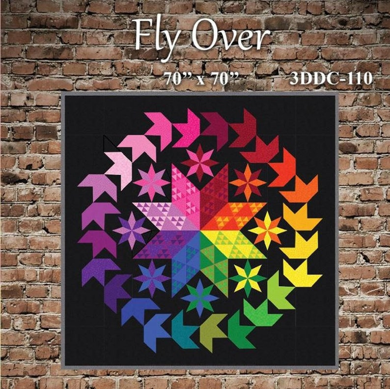 Fly Over Quilt Pattern by Carl Hentsch of 3 Dog Design Co.