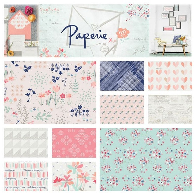 Love Letter Mini Quilt Kit featuring Paperie by Amy Sinibaldi