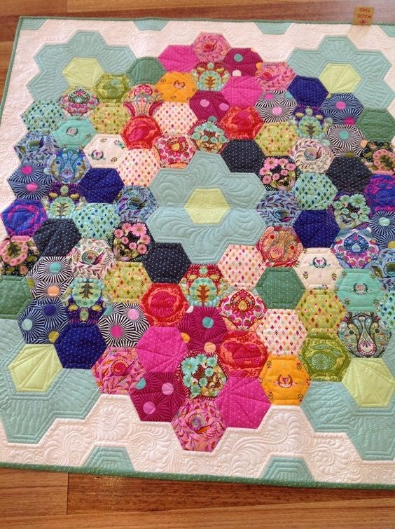 Hurray For Hexies Quilt Kit Featuring Slow Amp Steady By