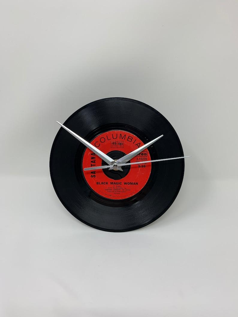 7 Record Clock Black Magic Woman Santana