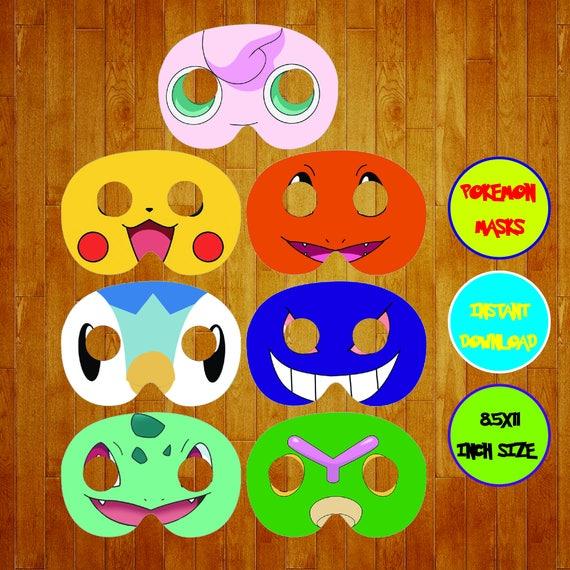 Sofortiger Download Pokemon Masken Pokemon Geburtstag Etsy