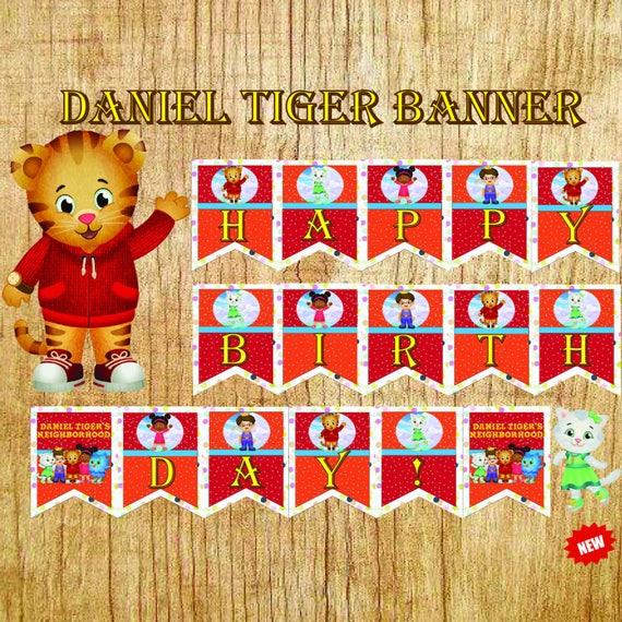 Daniel Tiger Partei Daniel Tiger Banner Daniel Tiger Tiger Etsy
