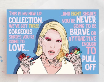 Jeffree Star liquid lipsticks collection funny card for any occasion! - Youtube beauty gurus