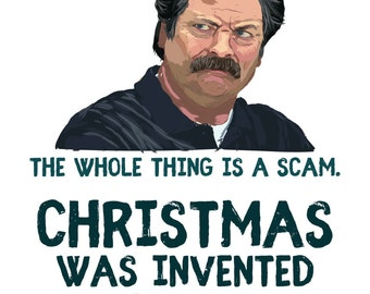 download pdf christmas was invented by hallmark to sell cards ron swanson christmas card parks and recreation - When Was Christmas Invented