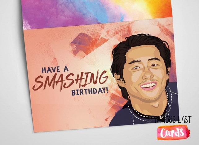 Have A Smashing Birthday The Walking Dead Birthday Card Etsy