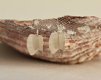 Gail Clam Earrings | Eco Sterling Silver Earrings | Textured Earrings | Handmade Jewellery | Unique Earrings | Gifts For Her | Drop Earrings