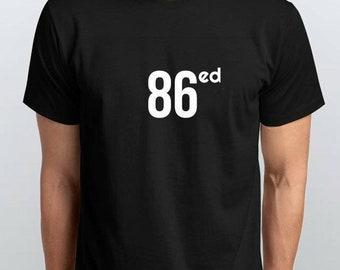 86ed Black 100% Cotton Tee Shirt by MHA