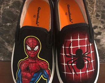 c5dd4f8028bd1 Boys spiderman shoes | Etsy