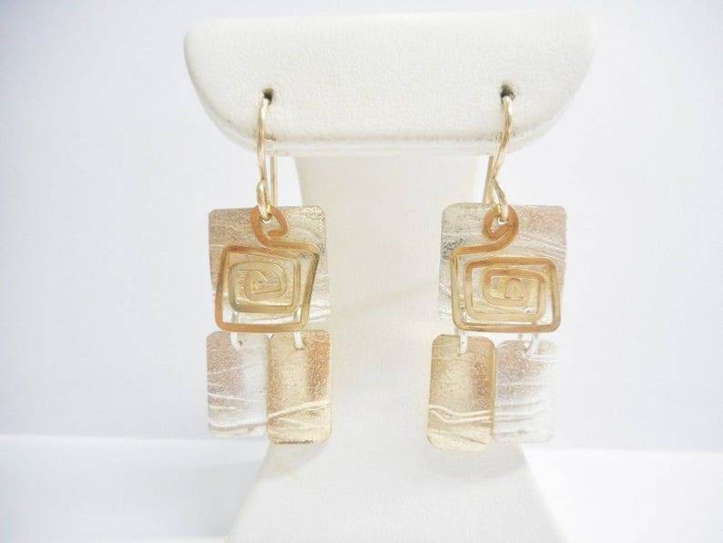 d14d3df5e1b54 Sterling Earrings Dangle Earrings Swirl Earrings Marcia   Etsy