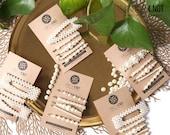 Trendy Faux Pearl Beaded Hair Clip Set - Bridal Tic Tac Snap Hair Pin/ Wedding Accessory/ Pearl-Beaded/ Faux Crystal