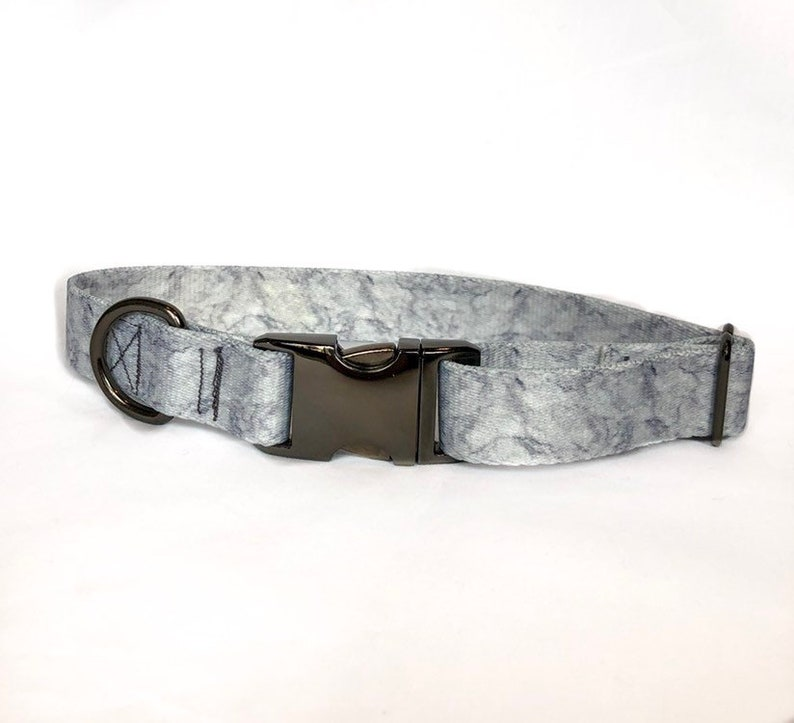 Adjustable 1 Wide Durable The Marble Dog Collar- Collar for Large Dog Handmade