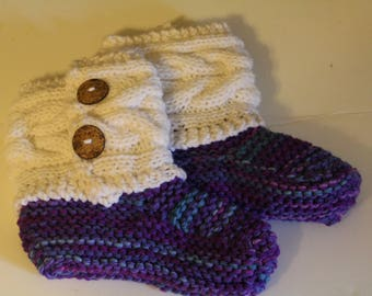 Handmade Knitted Booties/Slippers,