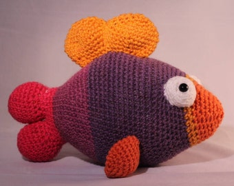 Hand Made Crochet Plush Fish, Stuffed Fish, Fish Plush Toy