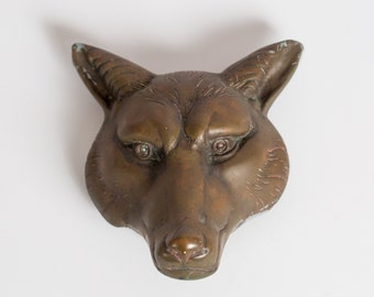 Genial Antique Very Sly Fox Door Knocker Large Heavy Hand Cast Metal Original  Patina Victorian Era Gothic Revival Style Wolf Arts And Crafts Period