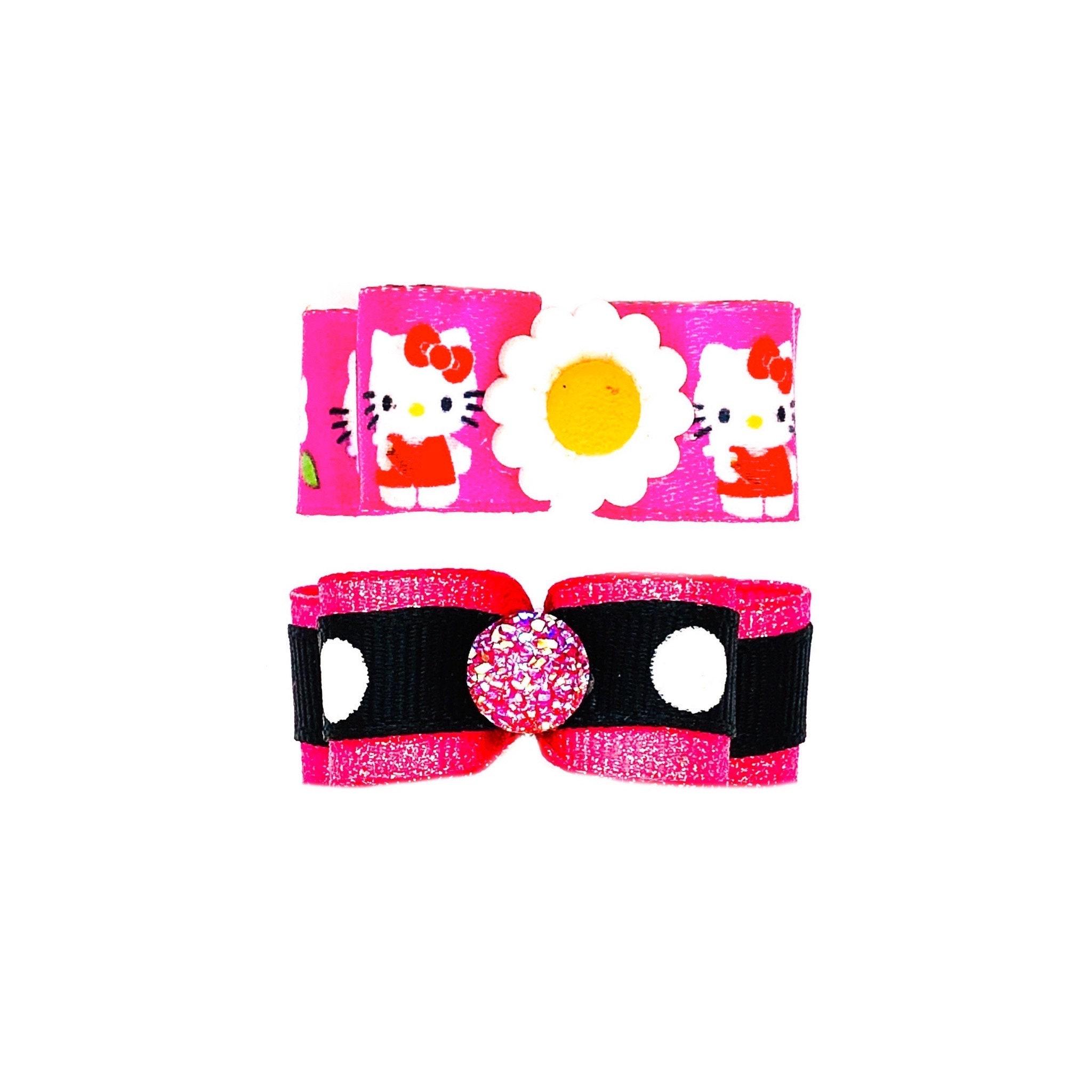 dogs ribbon key chain cat ribbon wristlet key fob Dogs or cats ribbon key fob