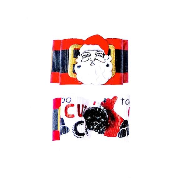 """Christmas foe Christmas elastic Christmas hair ties Christmas Dog foe Santa-5//8"""""""