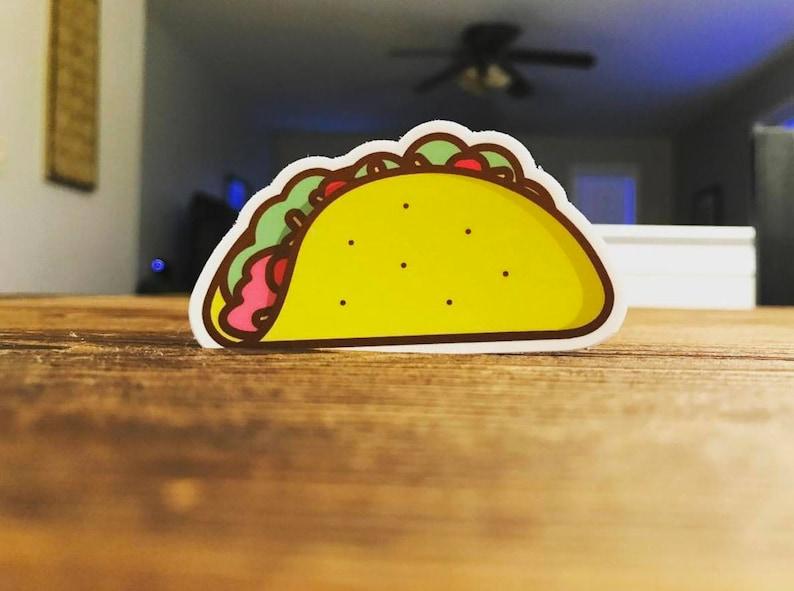 Taco Sticker  Laptop Sticker Tumbler Sticker Yeti Sticker image 0