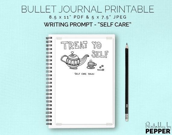 Self Care Ideas List Treat Yo Self Bullet Journal Etsy