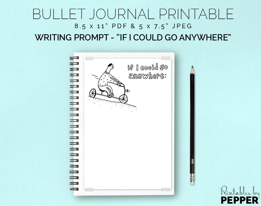 Go Anywhere Bullet Journal Planner Printable Bujo Art   Etsy