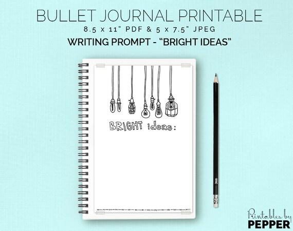 bright ideas notes bullet journal printable planner bujo etsy