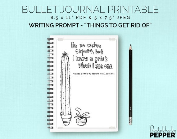 graphic regarding Writing Prompt Printable called Lifetime New Up Composing Proposed - Bullet Magazine Printable, Bujo Planner, Artwork Diary, Coloring Include, Composing Instructed, 5x7.5\
