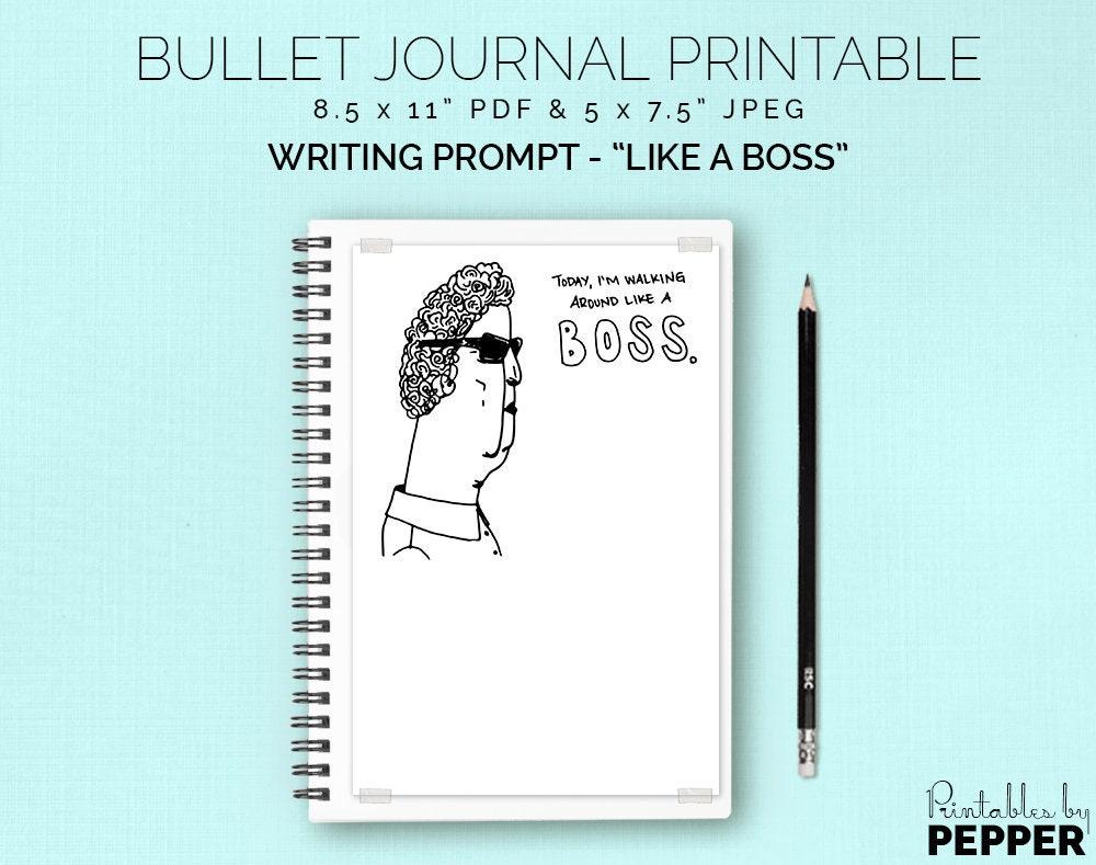 I\'m a Boss Bullet Journal Planner Printable Bujo Art | Etsy