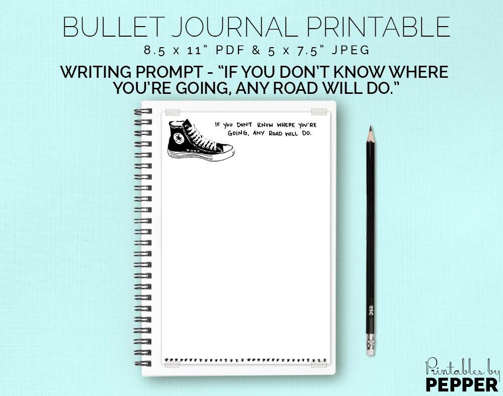 Any Road Will Do Bullet Journal Planner Printable Bujo Art | Etsy