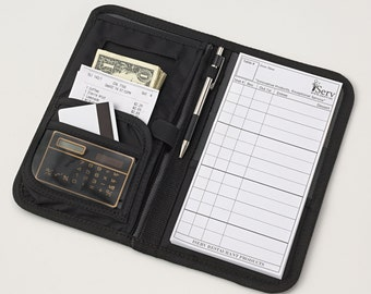 Server Book/Wallet Waitress Wallets Organizer comes with FREE order pad! Made in USA- Keep your Money Organized & Secured
