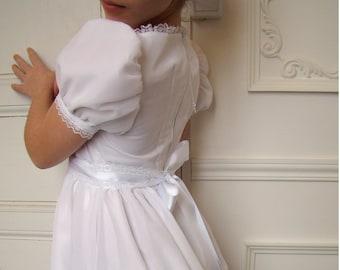 e9e9083b694 Robe de fille d honneur style historique Empire et Régence fin 18ème siècle